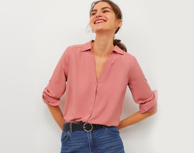 Camicetta H&M con scollo a V donna