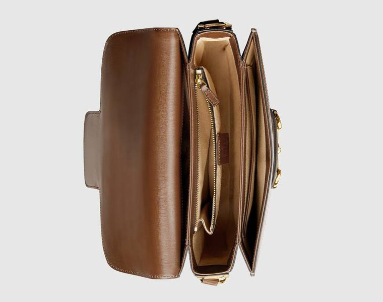 Borsa a spalla Horsebit 1955 Gucci GG Donna Sopra