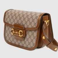 Borsa a spalla Horsebit 1955 Gucci GG Donna