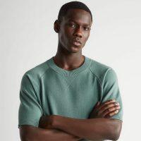 Maglietta Zara in maglia e scollo rotondo a coste