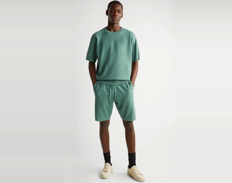 Maglietta Zara in maglia e scollo rotondo a coste moda