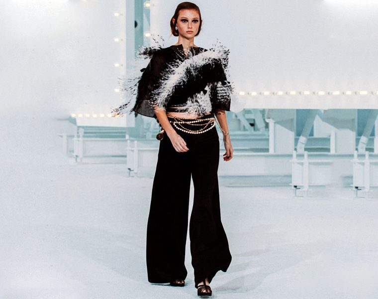 Pantalone Chanel in seta